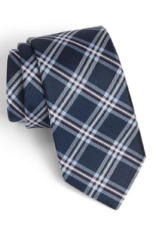 'Wayne' Plaid Silk Tie by Michael Kors in Million Dollar Arm