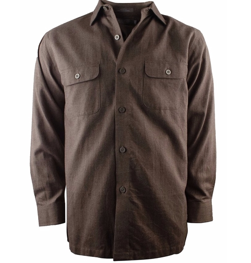 Signature Long Sleeve Woven Shirt by Daniel Cremieux in The Ranch -  Looks