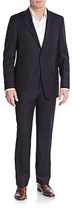 Regular-Fit Tonal Striped Wool Suit by Hickey Freeman in Empire