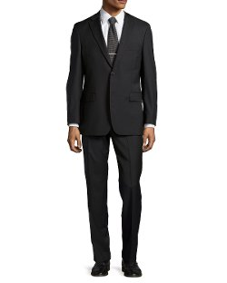 Men's Solid Two-Piece Suit by Hugo Boss in The Matrix