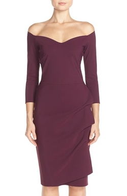 'Claretta Mm' Jersey Sheath Dress by Chiara Boni in Empire