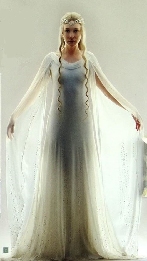 Custom Made Galadriel Costume by Ann Maskrey & Bob Buck (Costume Designer) in The Hobbit: The Battle of The Five Armies