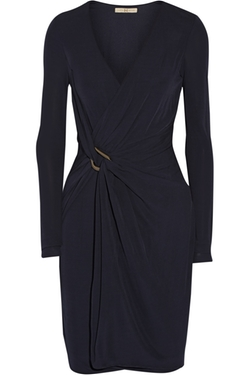 Halston Wrap Effect Jersey Dress by Halston Heritage in American Housewife