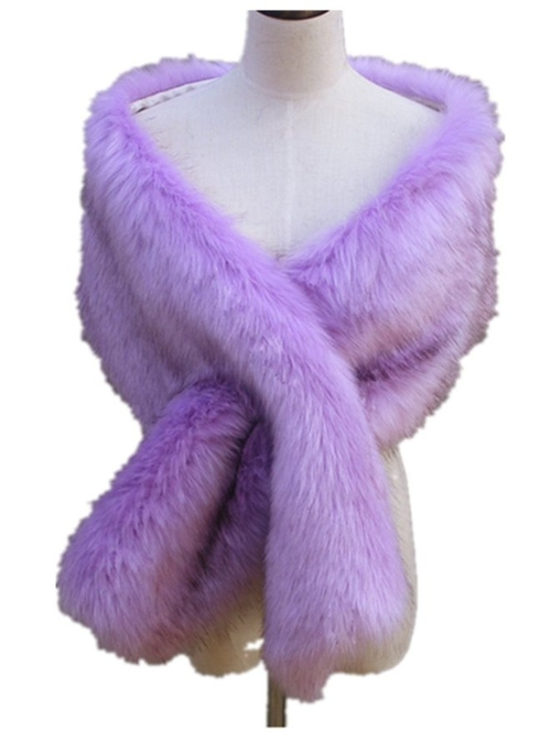 Faux Fox Fur Wrap Scarf by Chericom Store-Fur Shawl in Scream Queens - Season 1 Episode 5