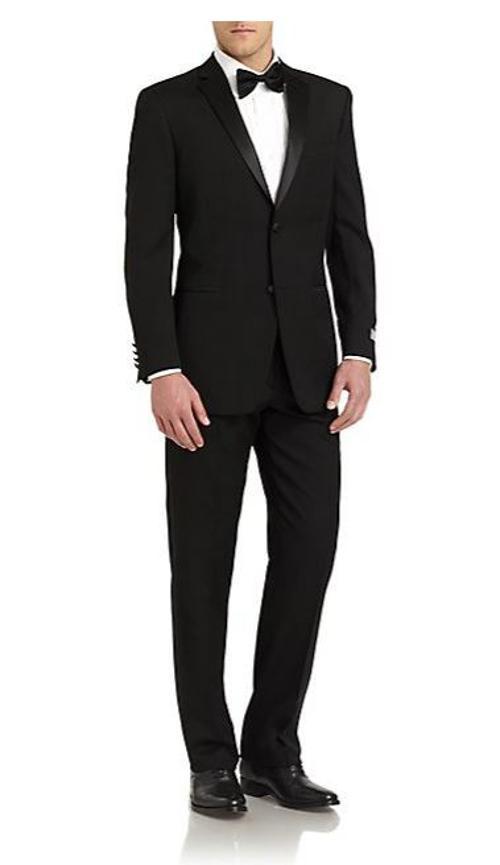 Satin Notched-Lapel Wool Classic-Fit Tuxedo by Ike Behar in Jersey Boys
