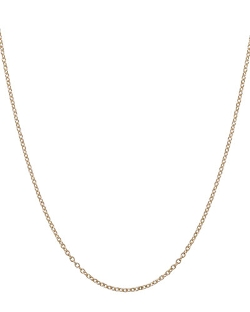 Yellow Gold Chain Necklace by Heather Moore in Unfinished Business