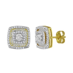 Square Stud Earrings by CT. T.W. in Ballers