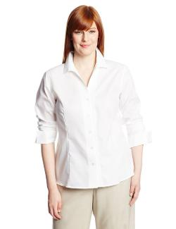 Plus-Size Longsleeve Button Up Shirt - Blouse by Jones New York in Tammy