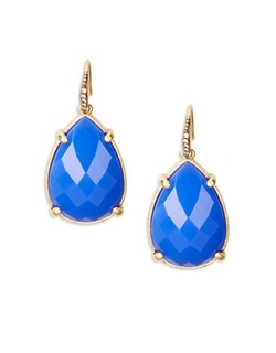 Pave Accented Teardrop Earrings by A.B.S. By Allen Schwartz in Captive