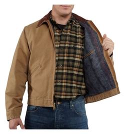 Men's Weathered Duck Detroit Jacket by Carhartt in Interstellar