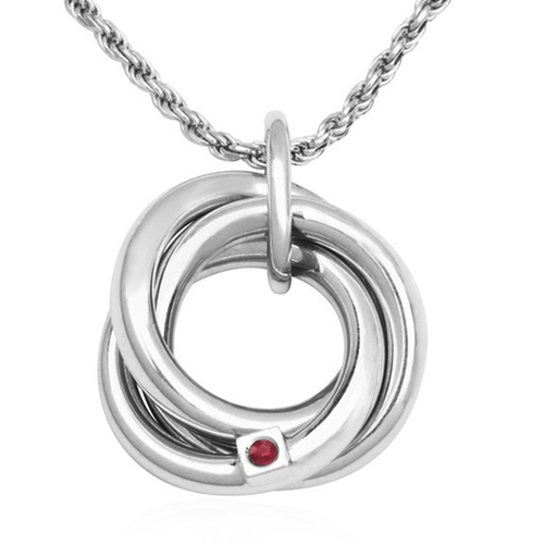 Movable Knot Sterling Silver Pendant Necklace by Elle Jewelry in We Are Your Friends