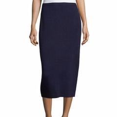 Washable Silk/Cotton Midi Pencil Skirt by Eileen Fisher in Designated Survivor