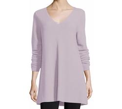Long-Sleeve V-Neck Links Tunic by Eileen Fisher in Fuller House