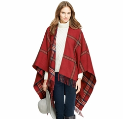 Merino Wool Signature Tartan Wrap by Brooks Brothers in The Boss