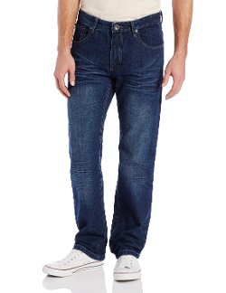 Washed Denim  Slim Straight Fit Jean by Southpole in Kick-Ass