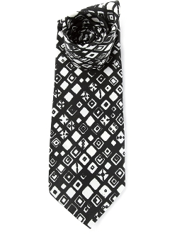 Geometric Print Tie by D&G Vintage in Fight Club