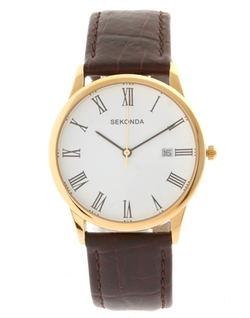 Brown Strap Watch by Sekonda in Straight Outta Compton