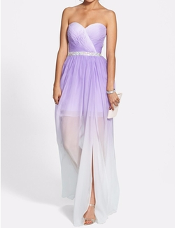 Ombré Chiffon Gown by La Femme in Empire