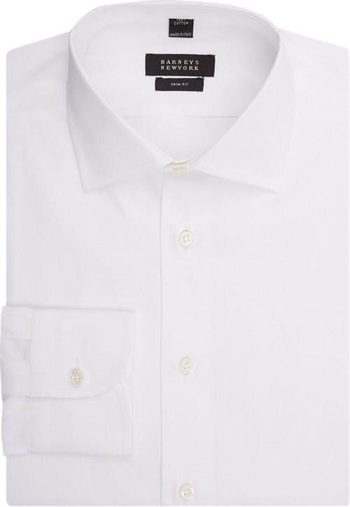 Trim-Fit Dress Shirt by Barneys New York in Legend