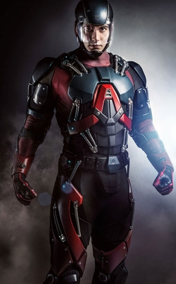 Custom Made 'Atom' Costume by Maya Mani (Costume Designer) in The Flash