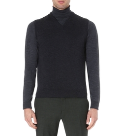 Turner Knitted Wool Vest by John Smedley in Side Effects
