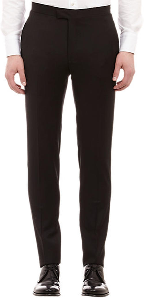 Piped Wool Gabardine Trousers by Barneys New York in Demolition