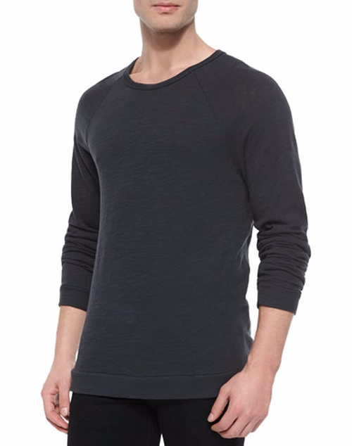 Raglan Sleeve Knit T-Shirt by Rag & Bone in Billions - Season 1 Episode 8