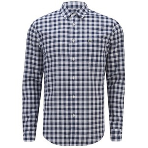 Long Sleeve Gingham Poplin Shirt by Lacoste in Ballers