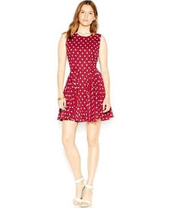 Fit & Flare Polka-Dot Dress by Maison Jules in Supergirl