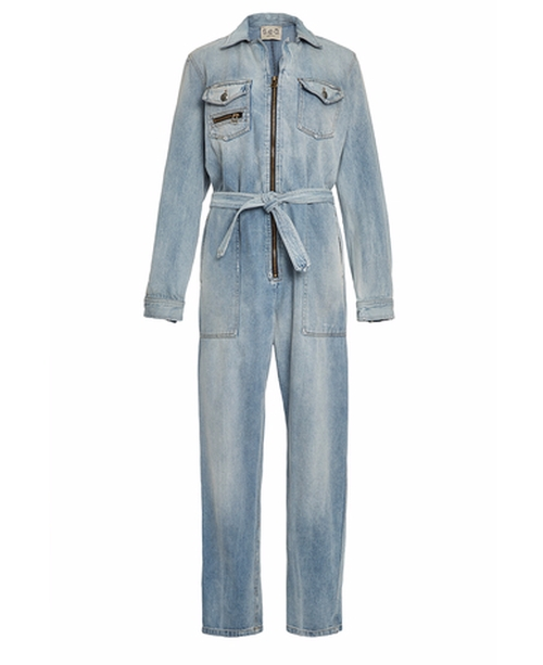 Hand Washed Denim Jumpsuit by Sea in Keeping Up With The Kardashians - Season 12 Episode 2