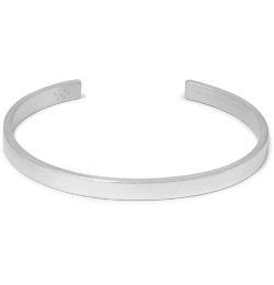 Le Polished Sterling Silver Cuff Bracelet by Le Gramme in The D Train