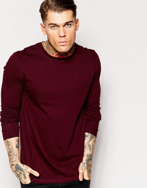 Longline Long Sleeve T-Shirt by Asos in We Are Your Friends