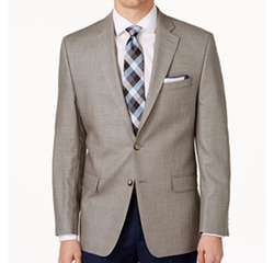Windowpane Sport Coat by Lauren Ralph Lauren in Rosewood