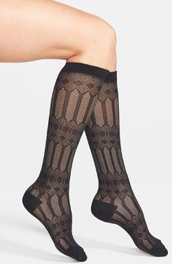 'Geo Diamonds' Knee High Socks by Vince Camuto in Pitch Perfect 2