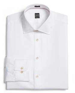 Diagonal Twill Dress Shirt by Ike Behar in Black Mass