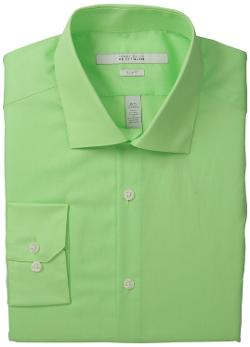 Men's Broadcloth Solid Dress Shirt by Perry Ellis in Anchorman 2: The Legend Continues