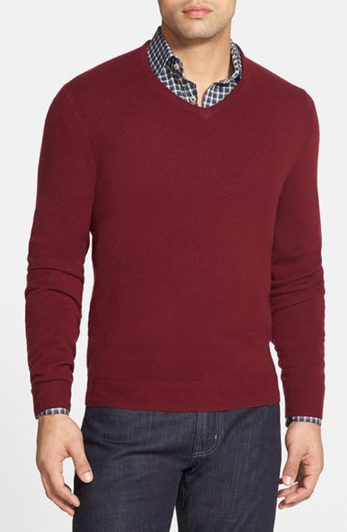 Cashmere V-Neck Sweater by John W. Nordstrom in New Girl - Season 5 Episode 4