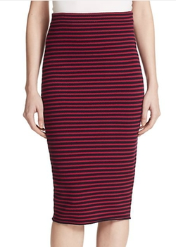 Delmar Striped Pencil Skirt by A.L.C. in Black-ish