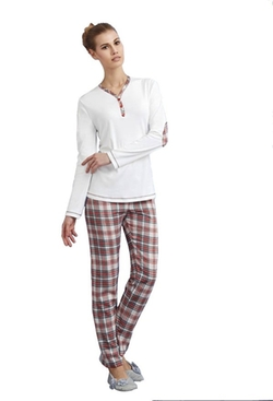 Andra Dreamwear Interlock Plaid Flannel Pants by Andra Lingerie in Freaky Friday
