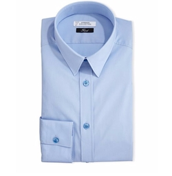 Button-Front Solid Dress Shirt by Versace in The Bourne Legacy