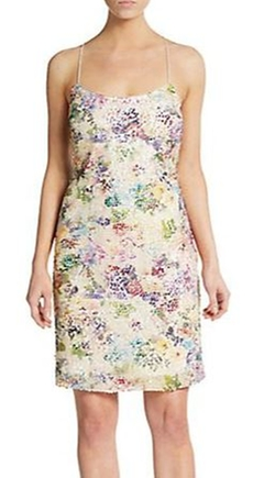 Sequined Floral-Print Tank Dress by Vera Wang in Cabin in the Woods
