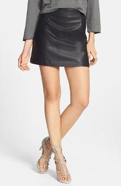 'Hustler' Faux Leather Miniskirt by MINKPINK in Sabotage