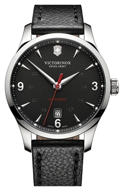'Alliance' Round Leather Strap Watch by Victorinox Swiss Army in Ballers