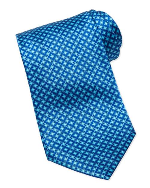 Micro Square Silk Tie by Stefano Ricci	 in The Other Woman