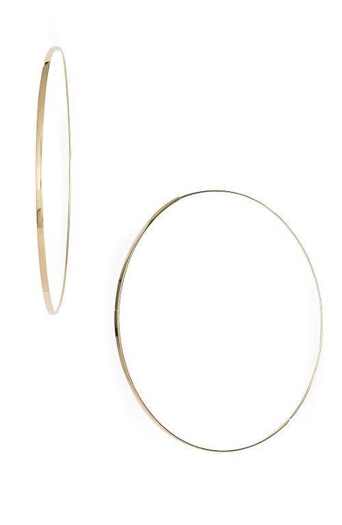 'Large Flat Magic' Hoop Earrings by Lana Jewelry in Entourage