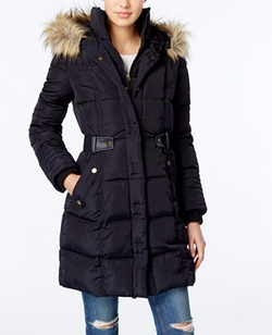 Faux-Fur-Trim Puffer Coat by Rachel Rachel Roy in Office Christmas Party