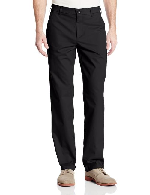 Men's Performance Cotton Slack Straight Fit Plain Front Pant by Haggar in Sabotage