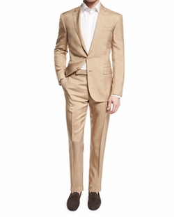 Anthony Solid Two-Piece Wool Suit by Ralph Lauren in Live By Night