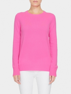 Essential Cashmere Crewneck Sweater by White+Warren in Mean Girls