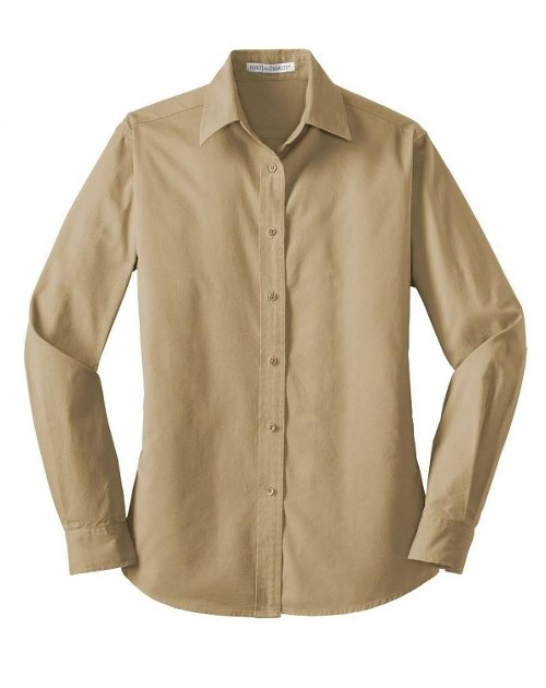 Durable Long Sleeve Twill Shirt by Port Authority in The Gunman